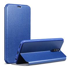 Huawei Mate 10 Lite用手帳型 レザーケース スタンド L02 ファーウェイ ネイビー