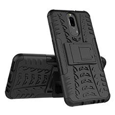 Huawei Mate 10 Lite用ハイブリットバンパーケース スタンド プラスチック 兼シリコーン カバー A02 ファーウェイ ブラック