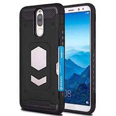 Huawei Mate 10 Lite用360度 フルカバー極薄ソフトケース シリコンケース 耐衝撃 全面保護 バンパー S01 ファーウェイ ブラック