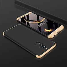 Huawei Mate 10 Lite用ハードケース プラスチック 質感もマット 前面と背面 360度 フルカバー ファーウェイ ゴールド・ブラック