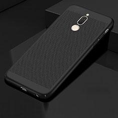 Huawei Mate 10 Lite用ハードケース プラスチック メッシュ デザイン カバー ファーウェイ ブラック