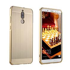 Huawei Mate 10 Lite用ケース 高級感 手触り良い アルミメタル 製の金属製 カバー ファーウェイ ゴールド