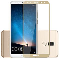 Huawei Mate 10 Lite用強化ガラス フル液晶保護フィルム F02 ファーウェイ ゴールド
