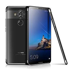 Huawei Mate 10 Pro用極薄ソフトケース シリコンケース 耐衝撃 全面保護 クリア透明 H01 ファーウェイ ブラック
