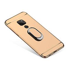 Huawei Mate 20用ケース 高級感 手触り良い メタル兼プラスチック バンパー アンド指輪 A01 ファーウェイ ゴールド