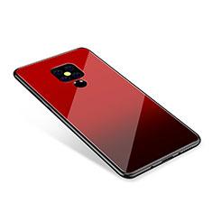 Huawei Mate 20用ハイブリットバンパーケース プラスチック 鏡面 虹 グラデーション 勾配色 カバー ファーウェイ レッド