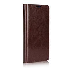 Huawei Mate 20用手帳型 レザーケース スタンド カバー L02 ファーウェイ ブラウン