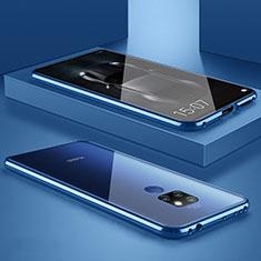 Huawei Mate 20用ケース 高級感 手触り良い アルミメタル 製の金属製 バンパー 鏡面 カバー M01 ファーウェイ ネイビー