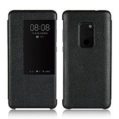 Huawei Mate 20用手帳型 レザーケース スタンド カバー L03 ファーウェイ ブラック