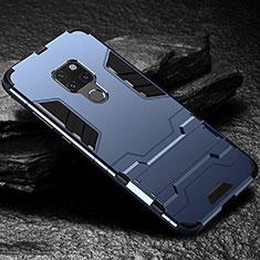 Huawei Mate 20用ハイブリットバンパーケース スタンド プラスチック 兼シリコーン カバー A01 ファーウェイ ネイビー
