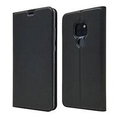 Huawei Mate 20用手帳型 レザーケース スタンド カバー L05 ファーウェイ ブラック