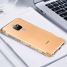 Huawei Mate 20用極薄ソフトケース シリコンケース 耐衝撃 全面保護 クリア透明 S02 ファーウェイ ゴールド