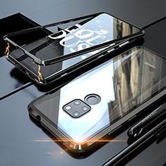 Huawei Mate 20用ケース 高級感 手触り良い アルミメタル 製の金属製 360度 フルカバーバンパー 鏡面 カバー M03 ファーウェイ ブラック