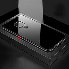 Huawei Mate 20用ケース 高級感 手触り良い アルミメタル 製の金属製 360度 フルカバーバンパー 鏡面 カバー M04 ファーウェイ ブラック