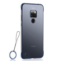 Huawei Mate 20用極薄ケース クリア透明 プラスチック 質感もマットU03 ファーウェイ ネイビー