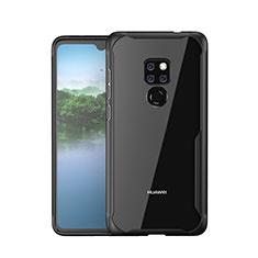 Huawei Mate 20用ハイブリットバンパーケース プラスチック 鏡面 カバー M05 ファーウェイ ブラック