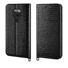 Huawei Mate 20用手帳型 レザーケース スタンド カバー L11 ファーウェイ ブラック