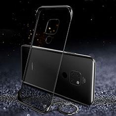 Huawei Mate 20用ハードカバー クリスタル クリア透明 S02 ファーウェイ ブラック