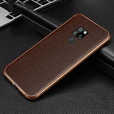Huawei Mate 20用ケース 高級感 手触り良い アルミメタル 製の金属製 カバー T04 ファーウェイ ブラウン