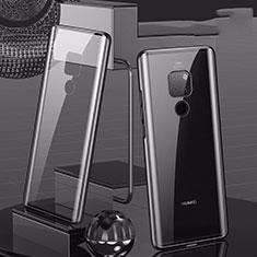 Huawei Mate 20用ケース 高級感 手触り良い アルミメタル 製の金属製 360度 フルカバーバンパー 鏡面 カバー T04 ファーウェイ ブラック