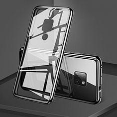 Huawei Mate 20用ケース 高級感 手触り良い アルミメタル 製の金属製 360度 フルカバーバンパー 鏡面 カバー T06 ファーウェイ ブラック