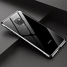 Huawei Mate 20用ケース 高級感 手触り良い アルミメタル 製の金属製 360度 フルカバーバンパー 鏡面 カバー T07 ファーウェイ ブラック