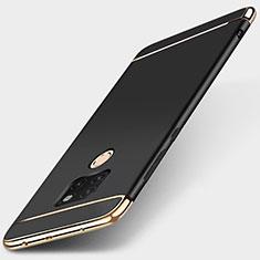 Huawei Mate 20用ケース 高級感 手触り良い メタル兼プラスチック バンパー T01 ファーウェイ ブラック