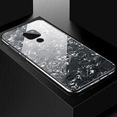 Huawei Mate 20用ハイブリットバンパーケース プラスチック 鏡面 カバー T01 ファーウェイ ブラック