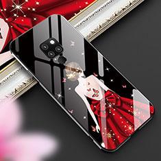 Huawei Mate 20用ハイブリットバンパーケース プラスチック ドレスガール ドレス少女 鏡面 カバー K01 ファーウェイ ブラック