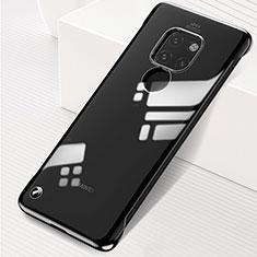 Huawei Mate 20用ハードカバー クリスタル クリア透明 S01 ファーウェイ ブラック