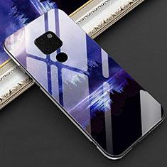 Huawei Mate 20用ハイブリットバンパーケース プラスチック パターン 鏡面 カバー Z01 ファーウェイ ネイビー