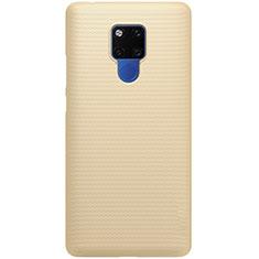 Huawei Mate 20用ハードケース プラスチック 質感もマット カバー P02 ファーウェイ ゴールド