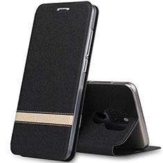 Huawei Mate 20用手帳型 レザーケース スタンド カバー T14 ファーウェイ ブラック