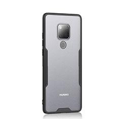 Huawei Mate 20用ハイブリットバンパーケース クリア透明 プラスチック 鏡面 カバー H04 ファーウェイ ブラック