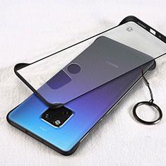 Huawei Mate 20用極薄ケース クリア透明 プラスチック 質感もマットH05 ファーウェイ ブラック