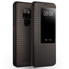 Huawei Mate 20用手帳型 レザーケース スタンド カバー T05 ファーウェイ ブラウン