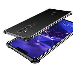 Huawei Mate 20 Lite用極薄ソフトケース シリコンケース 耐衝撃 全面保護 クリア透明 H02 ファーウェイ ブラック