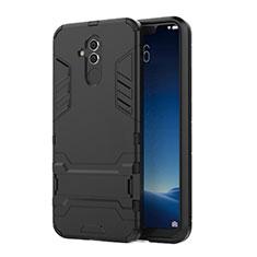 Huawei Mate 20 Lite用ハイブリットバンパーケース スタンド プラスチック 兼シリコーン カバー ファーウェイ ブラック