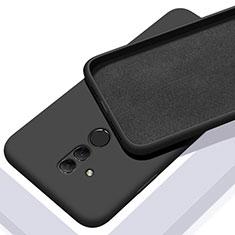 Huawei Mate 20 Lite用360度 フルカバー極薄ソフトケース シリコンケース 耐衝撃 全面保護 バンパー C01 ファーウェイ ブラック