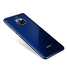 Huawei Mate 20 Pro用極薄ソフトケース シリコンケース 耐衝撃 全面保護 クリア透明 H01 ファーウェイ ネイビー