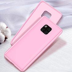 Huawei Mate 20 Pro用極薄ソフトケース シリコンケース 耐衝撃 全面保護 S04 ファーウェイ ピンク