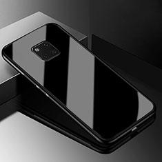 Huawei Mate 20 Pro用ハイブリットバンパーケース プラスチック 鏡面 カバー M03 ファーウェイ ブラック