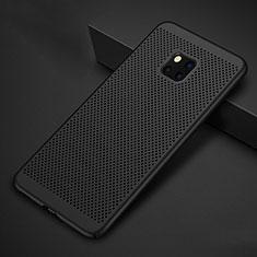 Huawei Mate 20 Pro用ハードケース プラスチック メッシュ デザイン カバー ファーウェイ ブラック