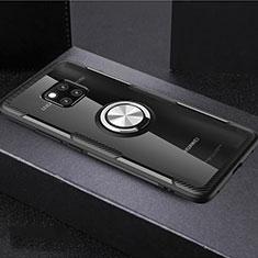 Huawei Mate 20 Pro用極薄ソフトケース シリコンケース 耐衝撃 全面保護 クリア透明 アンド指輪 マグネット式 S02 ファーウェイ マルチカラー