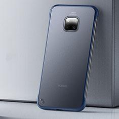 Huawei Mate 20 Pro用極薄ケース クリア透明 プラスチック 質感もマットU01 ファーウェイ ネイビー