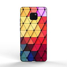 Huawei Mate 20 Pro用ハイブリットバンパーケース プラスチック パターン 鏡面 K02 ファーウェイ カラフル