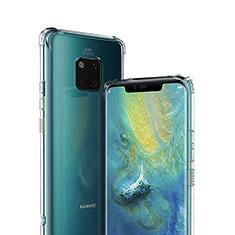 Huawei Mate 20 Pro用極薄ソフトケース シリコンケース 耐衝撃 全面保護 クリア透明 K01 ファーウェイ クリア