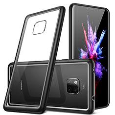 Huawei Mate 20 Pro用ハイブリットバンパーケース クリア透明 プラスチック 鏡面 カバー H01 ファーウェイ ブラック