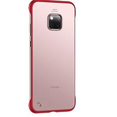 Huawei Mate 20 Pro用極薄ケース クリア透明 プラスチック 質感もマットH01 ファーウェイ レッド