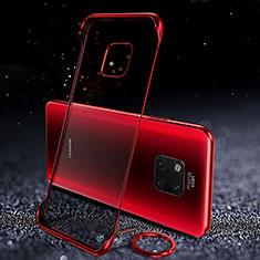 Huawei Mate 20 Pro用ハードカバー クリスタル クリア透明 S01 ファーウェイ レッド